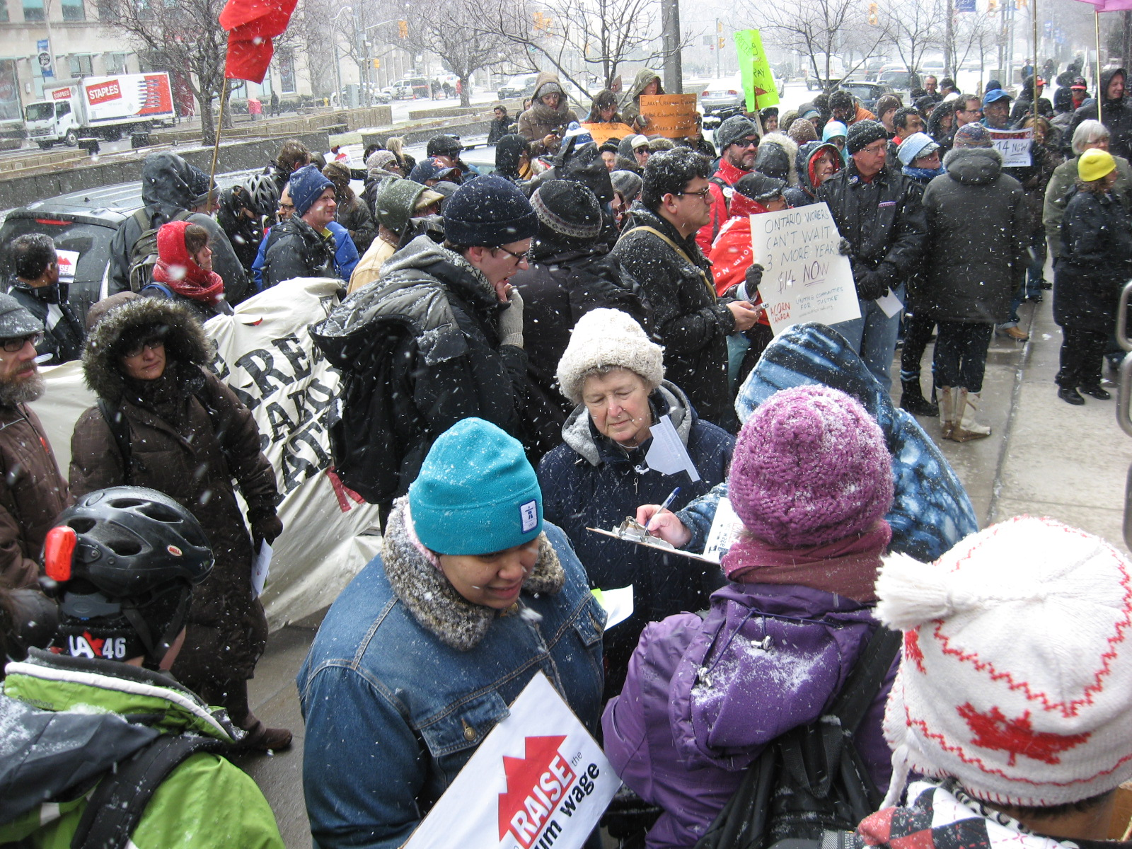 Rally outside Toronto Ministry of Labour